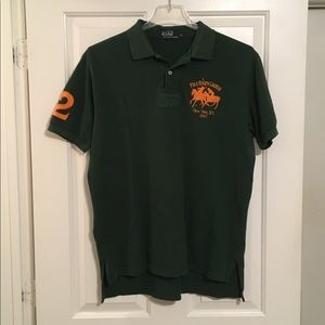 Polo RL men's polo rugby shirt Sz L Green